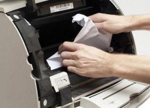Замятие бумаги в зоне узла термофиксации при двухсторонней печати в аппаратах Kyocera